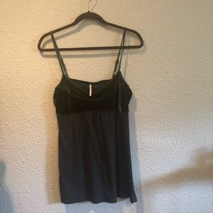 Free People velvet and jersey tank top